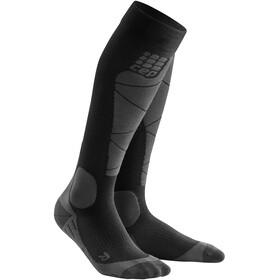 cep Calcetines Esquí Merino Mujer, negro/gris